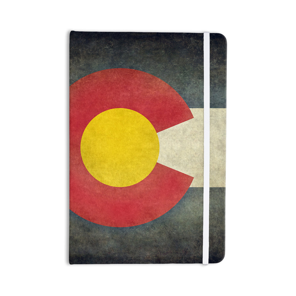 "Bruce Stanfield ""State Flag of Colorado"" Black Red Everything Notebook - KESS InHouse  - 1"
