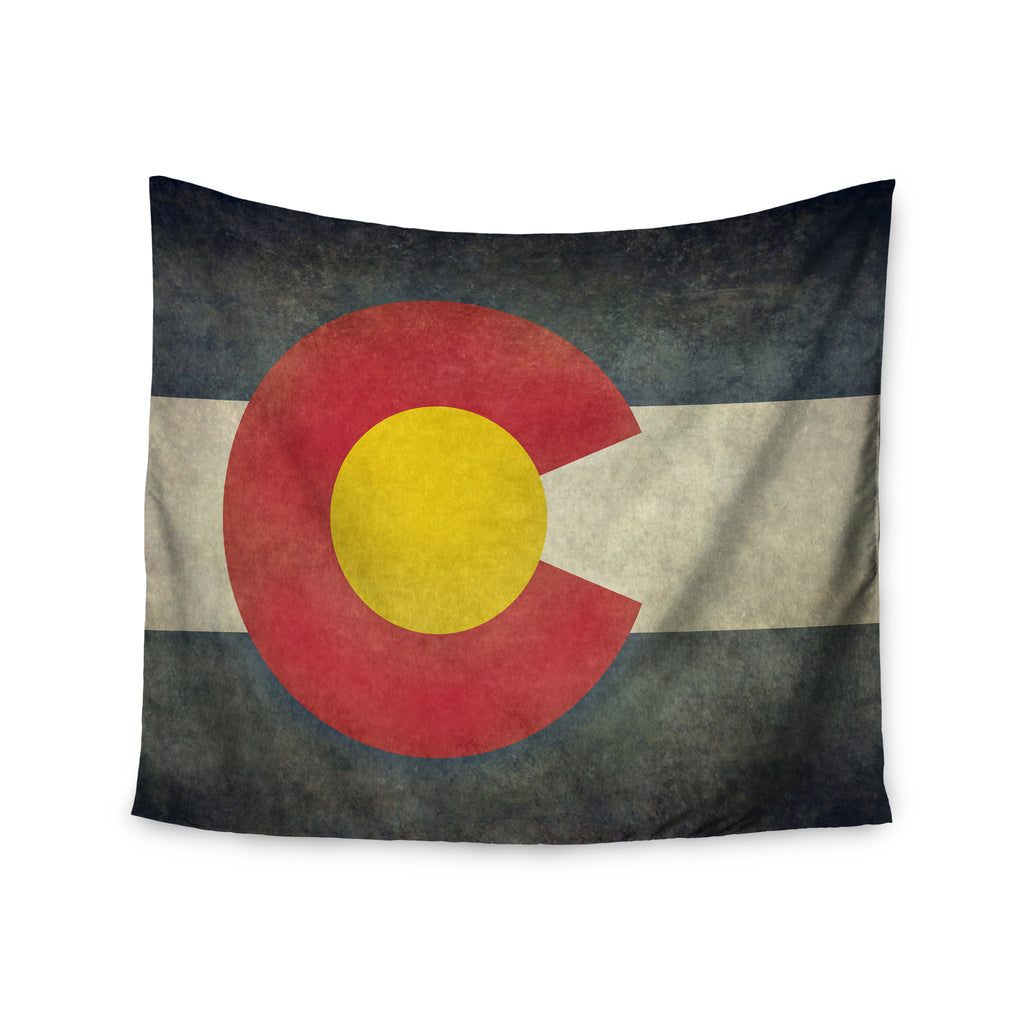 "Bruce Stanfield ""State Flag of Colorado"" Black Red Wall Tapestry - KESS InHouse  - 1"