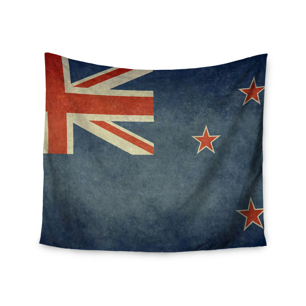 "Bruce Stanfield ""Flag of New Zealand"" Blue Wall Tapestry - KESS InHouse  - 1"