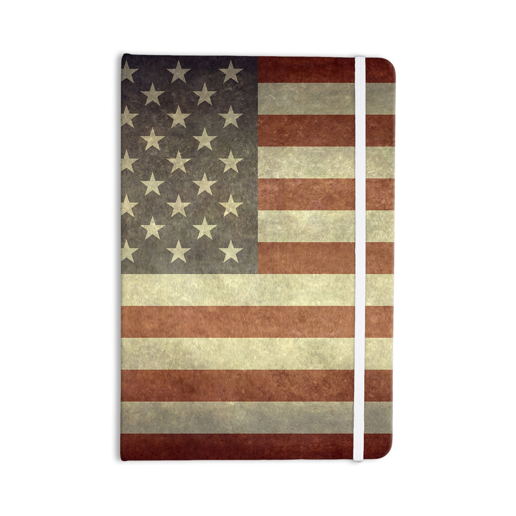 "Bruce Stanfield ""Flag of US Retro"" Rustic Everything Notebook - KESS InHouse  - 1"