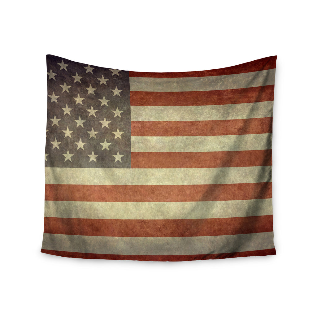 "Bruce Stanfield ""Flag of US Retro"" Rustic Wall Tapestry - KESS InHouse  - 1"