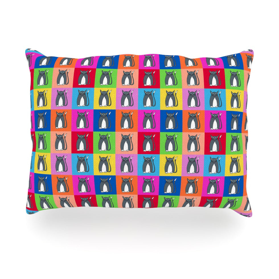"Bruce Stanfield ""Pussy Cat I Love You"" Rainbow Oblong Pillow - KESS InHouse"
