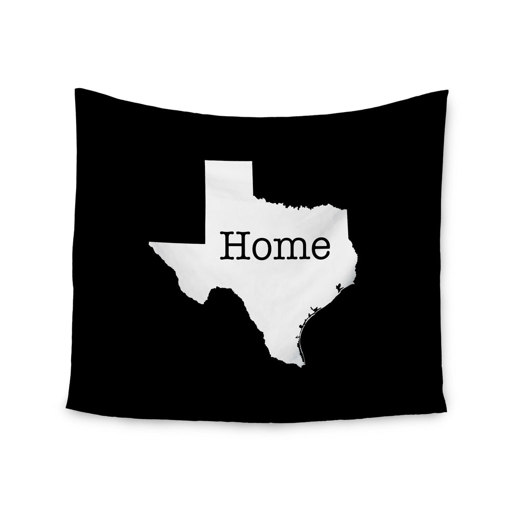 "Bruce Stanfield ""Texas State Outline"" Black White Wall Tapestry - KESS InHouse  - 1"