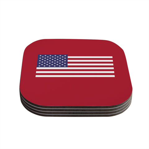 "Bruce Stanfield ""Flag of USA"" Contemporary Digital Coasters (Set of 4) - Outlet Item"