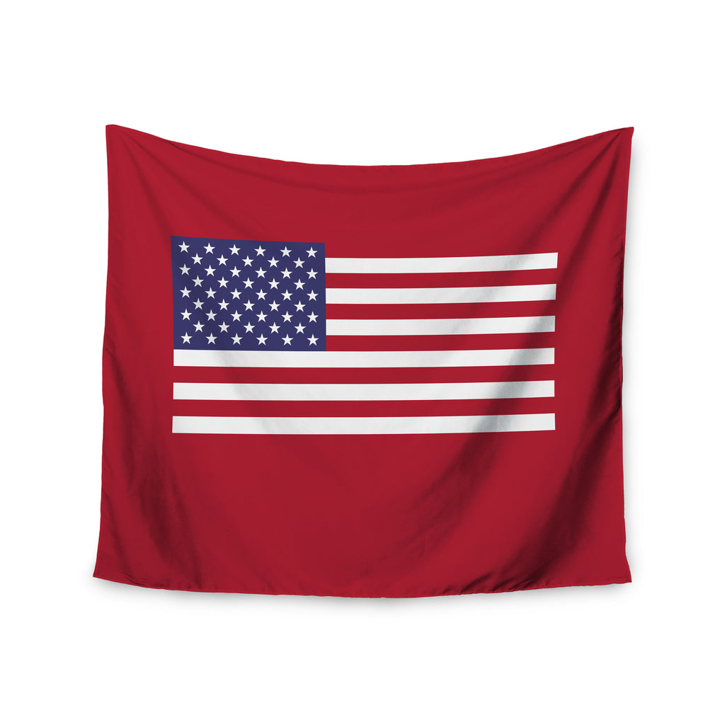 "Bruce Stanfield ""Flag of USA"" Contemporary Digital Wall Tapestry - KESS InHouse  - 1"