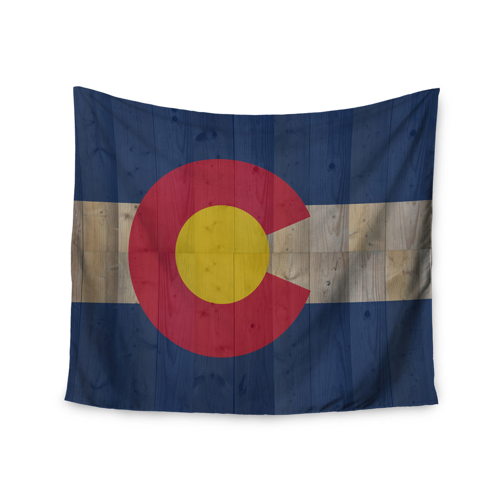 "Bruce Stanfield ""Flag of Colorado"" Blue Red Wall Tapestry - KESS InHouse  - 1"