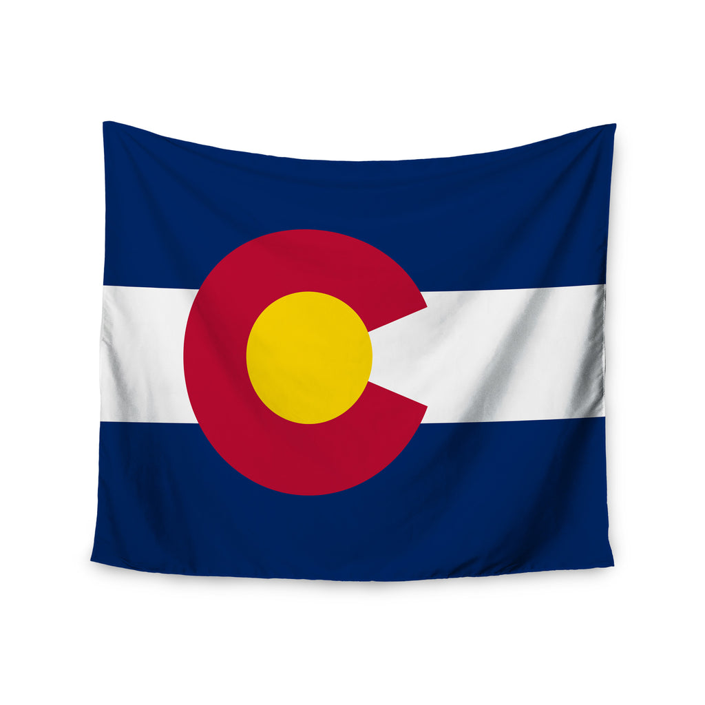 "Bruce Stanfield ""Flag of Colorado II"" Blue Red Wall Tapestry - KESS InHouse  - 1"