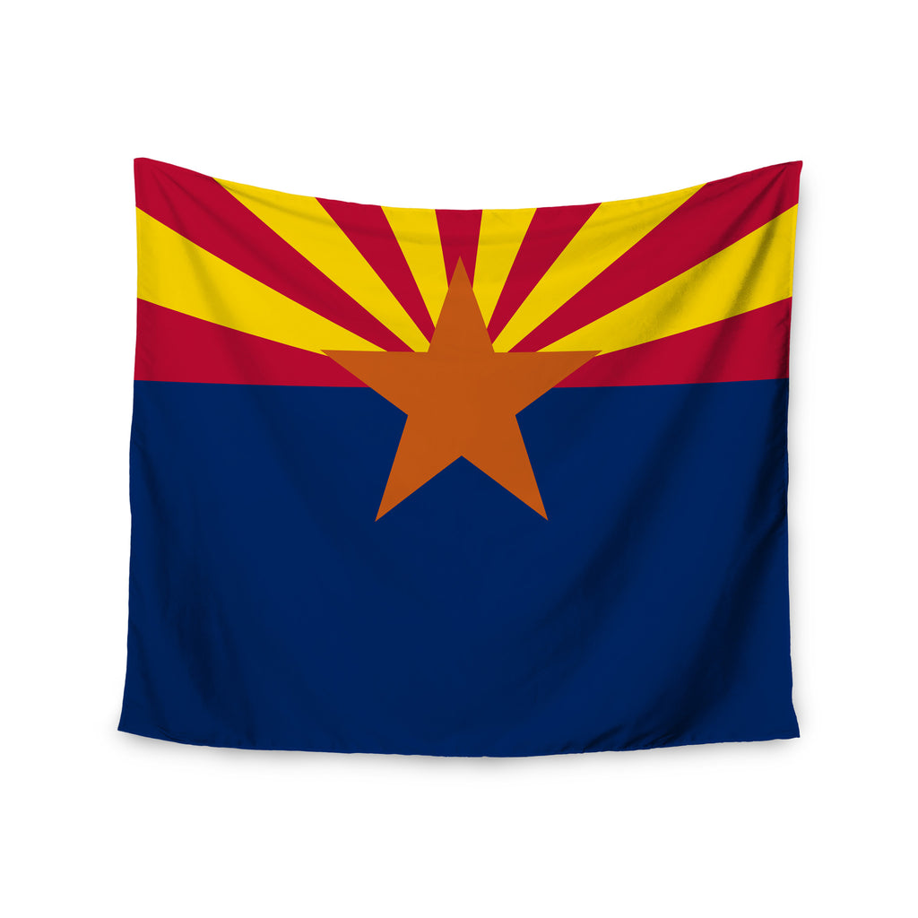 "Bruce Stanfield ""Flag Of Arizona"" Red Blue Wall Tapestry - KESS InHouse  - 1"