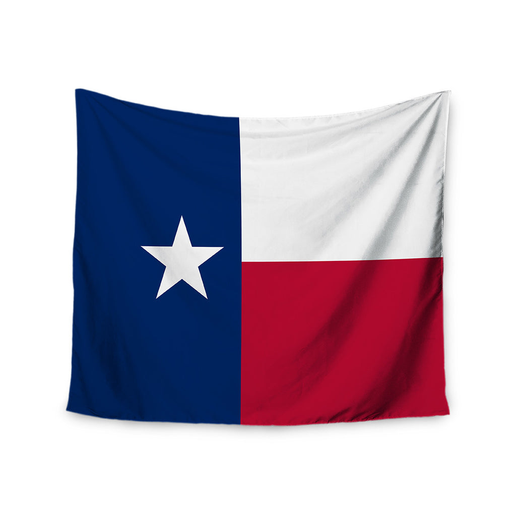 "Bruce Stanfield ""Flag of Texas"" Blue Red Wall Tapestry"