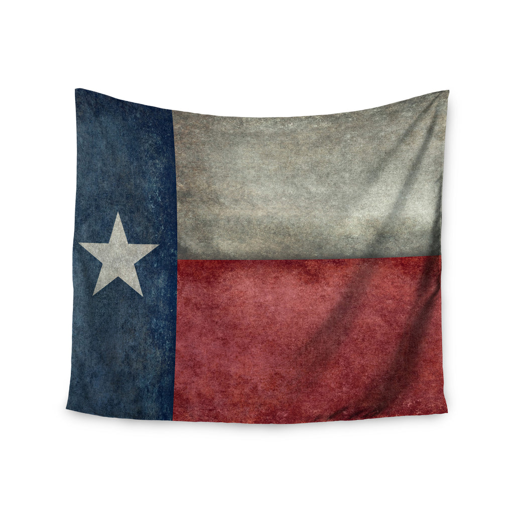 "Bruce Stanfield ""Texas State Flag"" Vintage Digital Wall Tapestry - KESS InHouse  - 1"