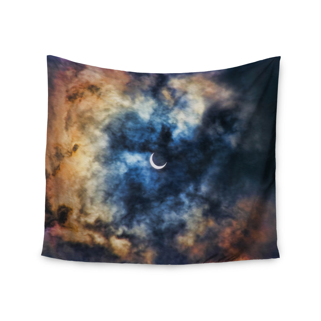 "Bruce Stanfield ""Night Moves"" Blue Orange Wall Tapestry - KESS InHouse  - 1"