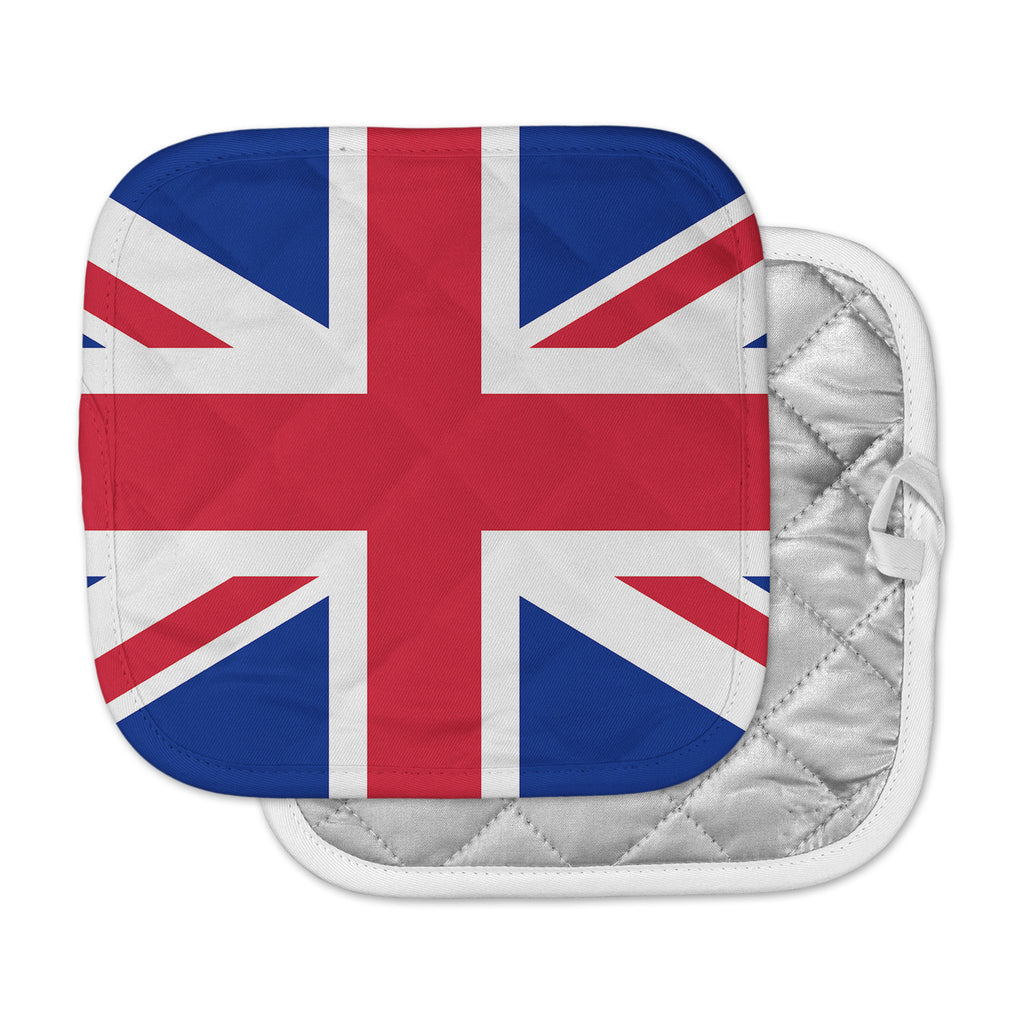 "Bruce Stanfield ""Classic Union Jack"" Blue Red Pot Holder"