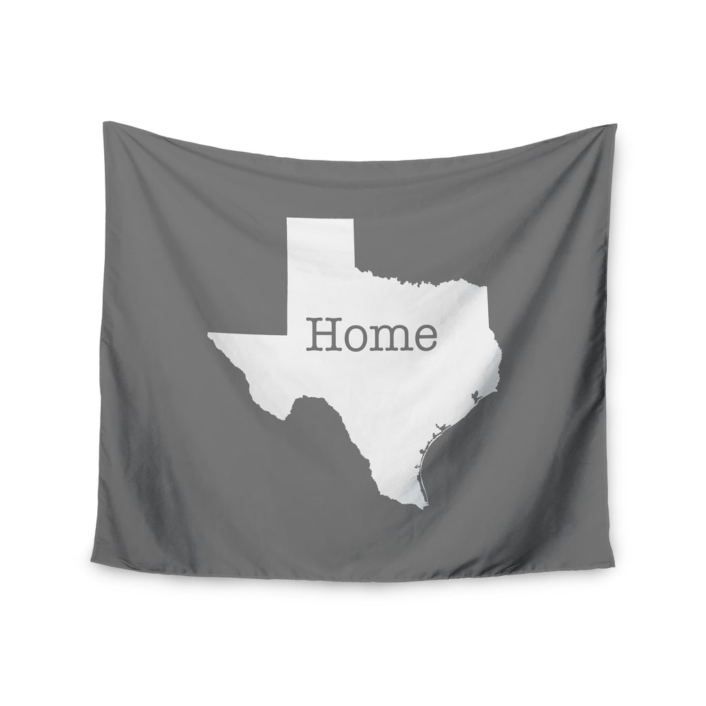 "Bruce Stanfield ""Texas Is Home"" White Gray Wall Tapestry - KESS InHouse  - 1"