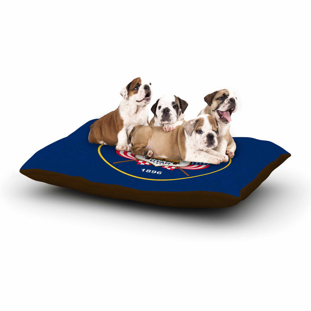 "Bruce Stanfield ""Utah State Flag Authentic"" Blue Red Dog Bed - KESS InHouse  - 1"