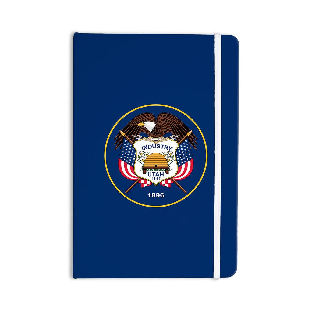 "Bruce Stanfield ""Utah State Flag Authentic"" Blue Red Everything Notebook - KESS InHouse  - 1"