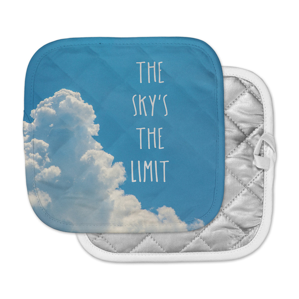 "Bruce Stanfield ""The Skys The Limit Square"" Typography Nature Pot Holder"