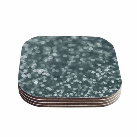 "Bruce Stanfield ""Ambient 2"" Gray Abstract Coasters (Set of 4) - Outlet Item"
