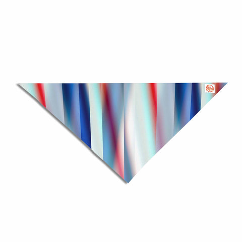 "Bruce Stanfield ""Ambient 12"" Red Blue Pet Bandana - KESS InHouse  - 1"