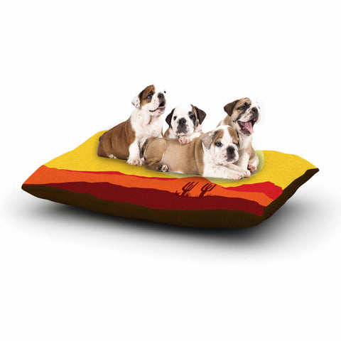 "Bruce Stanfield ""Mojave Desert"" Yellow Orange Digital Dog Bed"