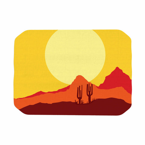 "Bruce Stanfield ""Mojave Desert"" Yellow Orange Digital Place Mat"