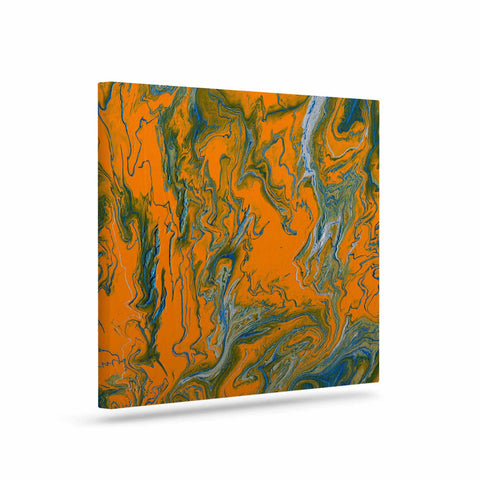 "Bruce Stanfield ""La Carte De La Vie"" Orange Blue Painting Art Canvas"