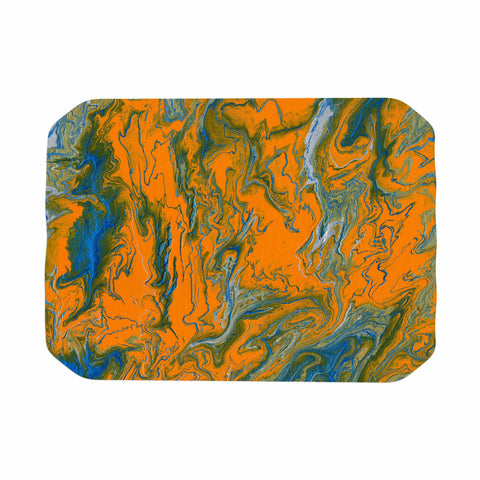 "Bruce Stanfield ""La Carte De La Vie"" Orange Blue Painting Place Mat"