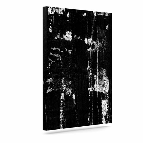 "Bruce Stanfield ""Distressed Grunge 101"" Black White Painting Art Canvas"