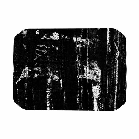 "Bruce Stanfield ""Distressed Grunge 101"" Black White Painting Place Mat"