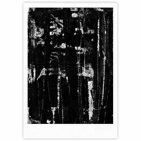 "Bruce Stanfield ""Distressed Grunge 101"" Black White Painting Fine Art Gallery Print"