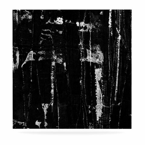 "Bruce Stanfield ""Distressed Grunge 101"" Black White Painting Luxe Square Panel"