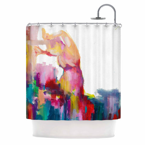 "Cecibd ""Espana III"" Magenta Painting Shower Curtain - KESS InHouse"