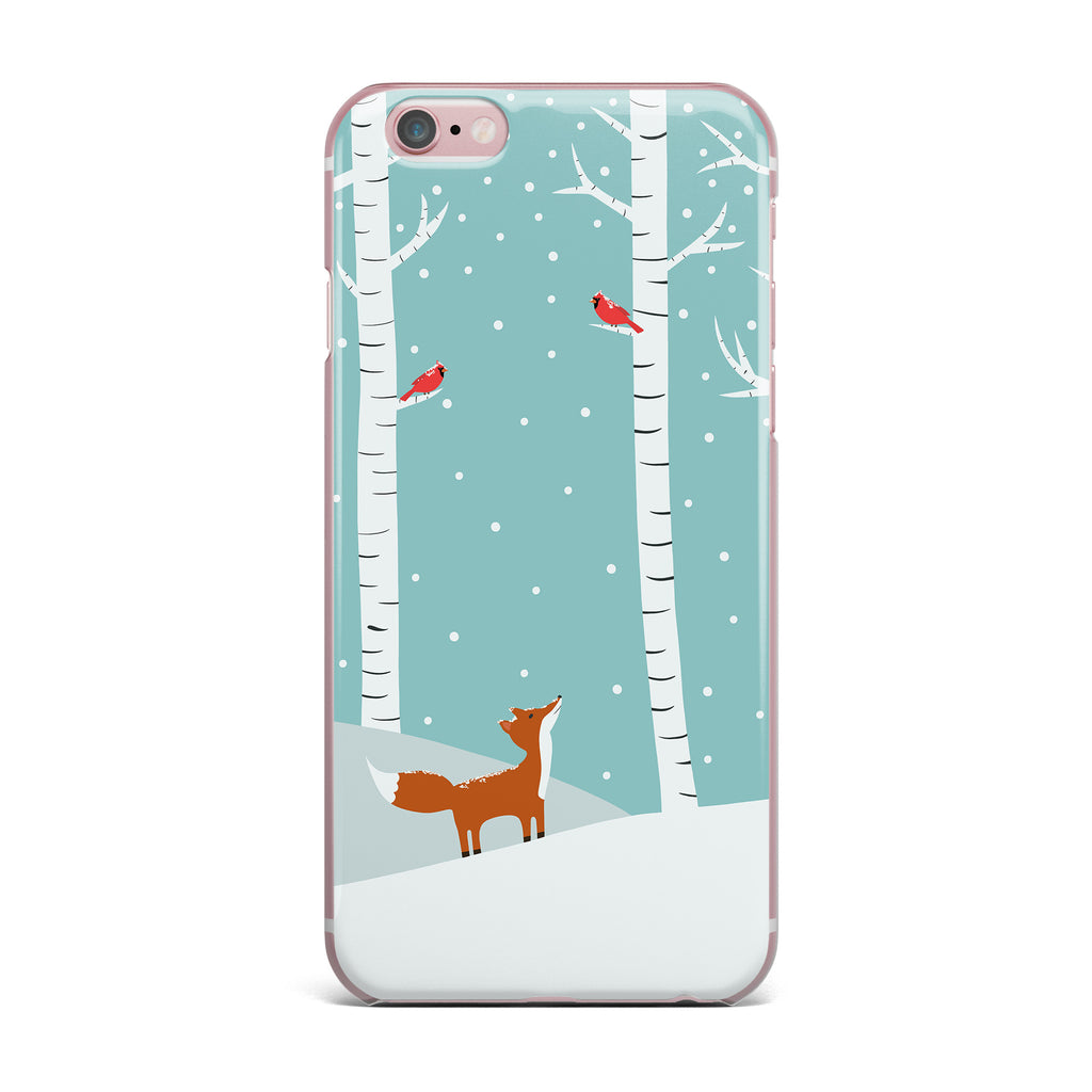 "Cristina bianco Design ""Fox Cardinals Winter"" Blue Kids iPhone Case - KESS InHouse"