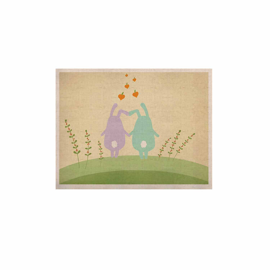 "Cristina bianco Design ""Cute Bunnies"" Beige Animals KESS Naturals Canvas (Frame not Included) - KESS InHouse  - 1"