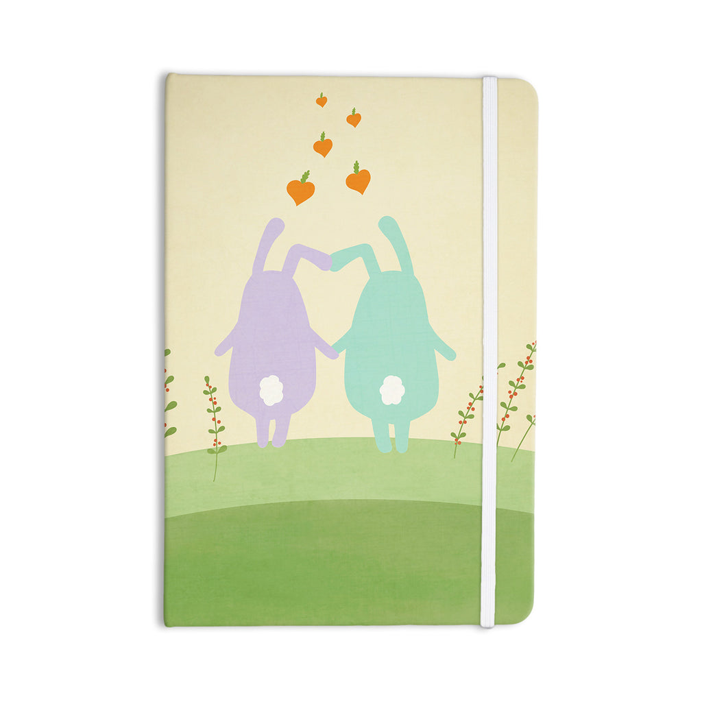 "Cristina bianco Design ""Cute Bunnies"" Beige Animals Everything Notebook - KESS InHouse  - 1"