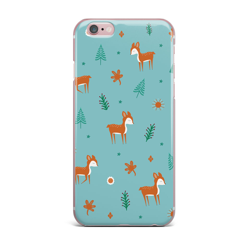 "Cristina bianco Design ""Cute Deer Pattern"" Teal Kids iPhone Case - KESS InHouse"