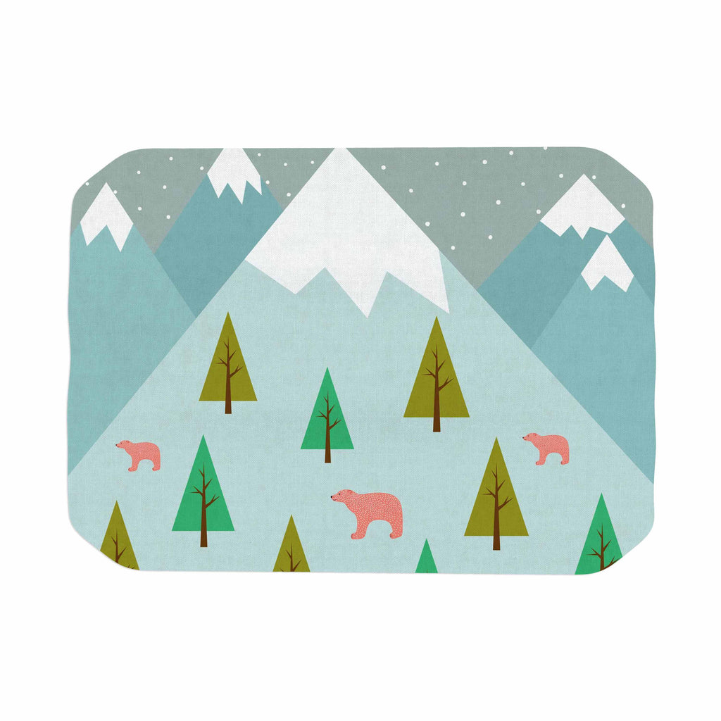 "Cristina bianco Design ""Bears Illustration"" Blue Nature Place Mat - KESS InHouse"