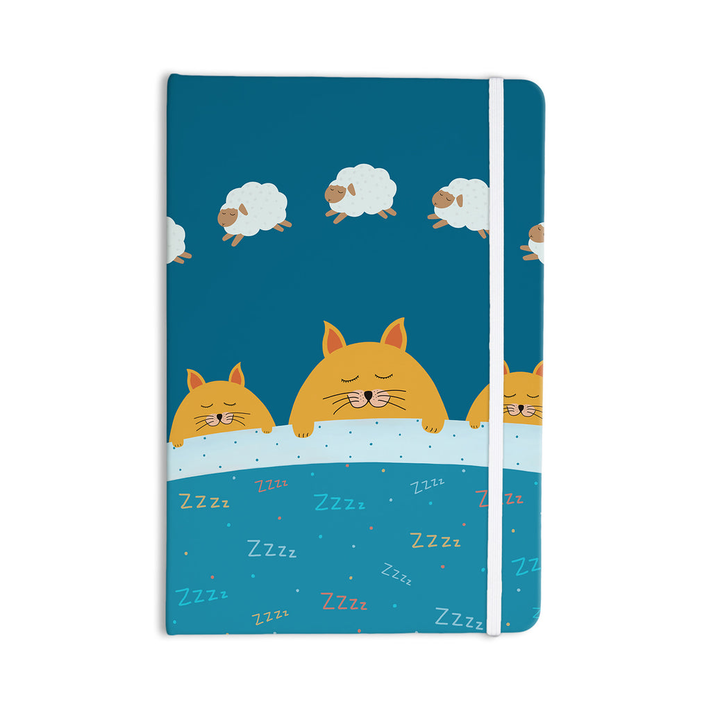 "Cristina bianco Design ""Sleeping Cats Zzzz"" Teal Animals Everything Notebook - KESS InHouse  - 1"