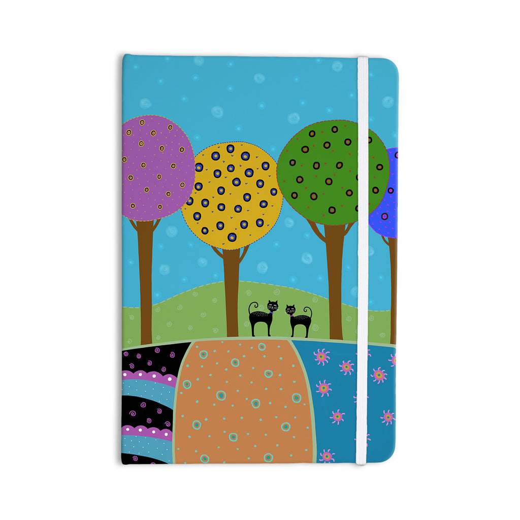 "Cristina bianco Design ""Cats & Colorful Landscape"" Pink Illustration Everything Notebook - KESS InHouse  - 1"