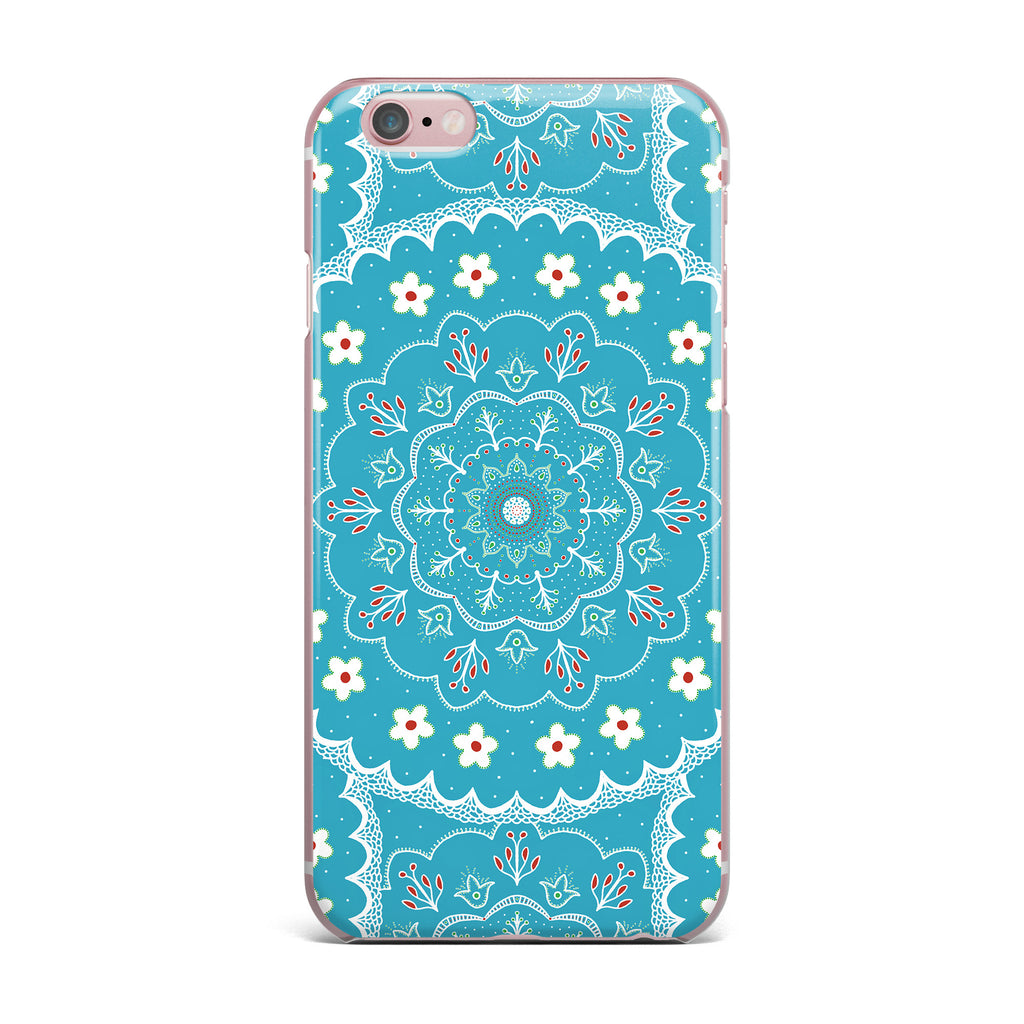 "Cristina bianco Design ""Blue & White Mandala"" Blue Floral iPhone Case - KESS InHouse"