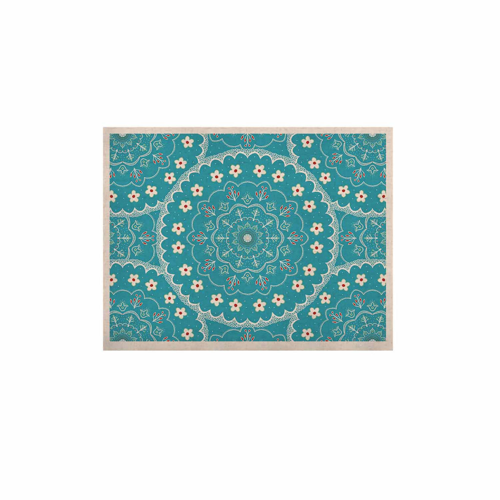 "Cristina bianco Design ""Blue & White Mandala"" Blue Floral KESS Naturals Canvas (Frame not Included) - KESS InHouse  - 1"