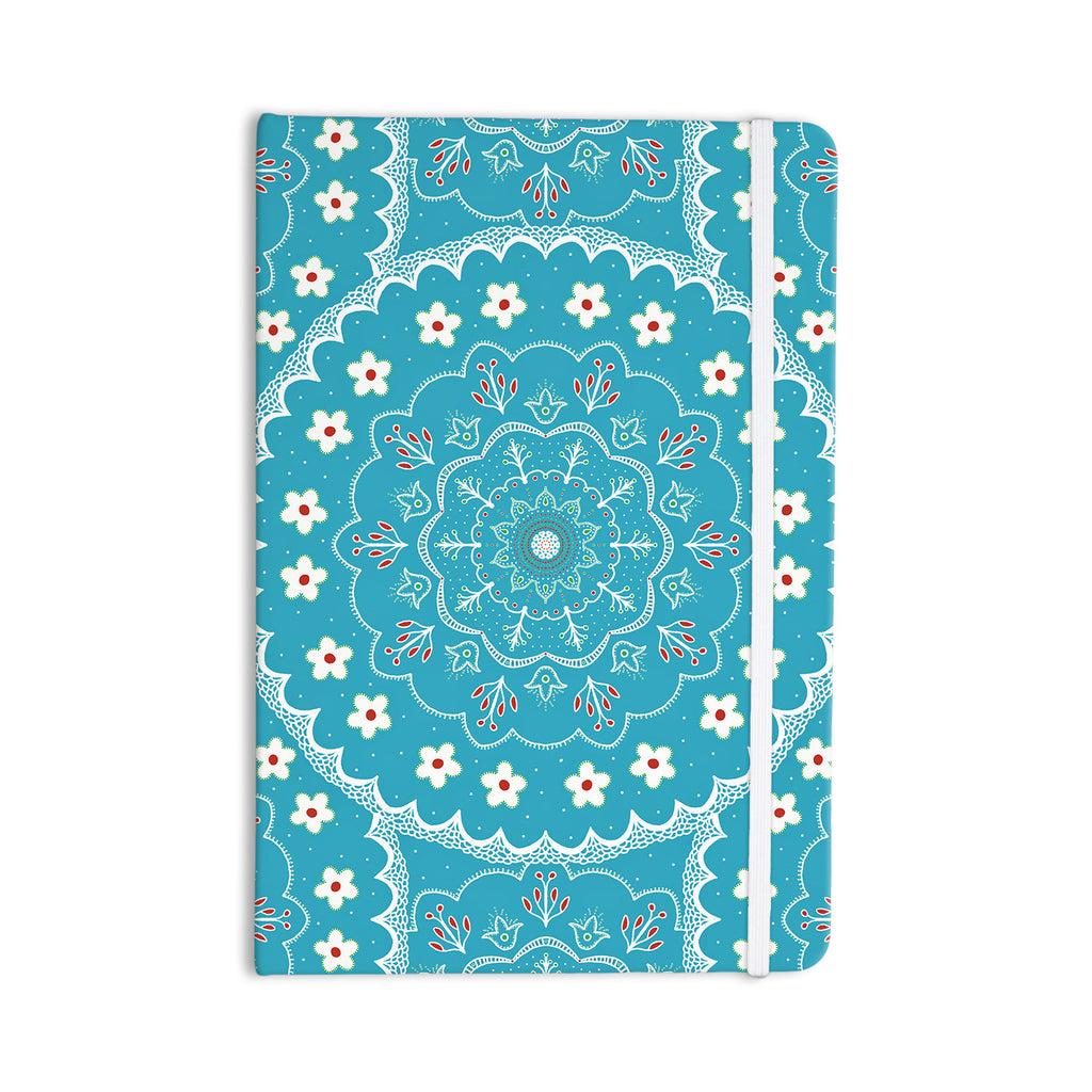 "Cristina bianco Design ""Blue & White Mandala"" Blue Floral Everything Notebook - KESS InHouse  - 1"