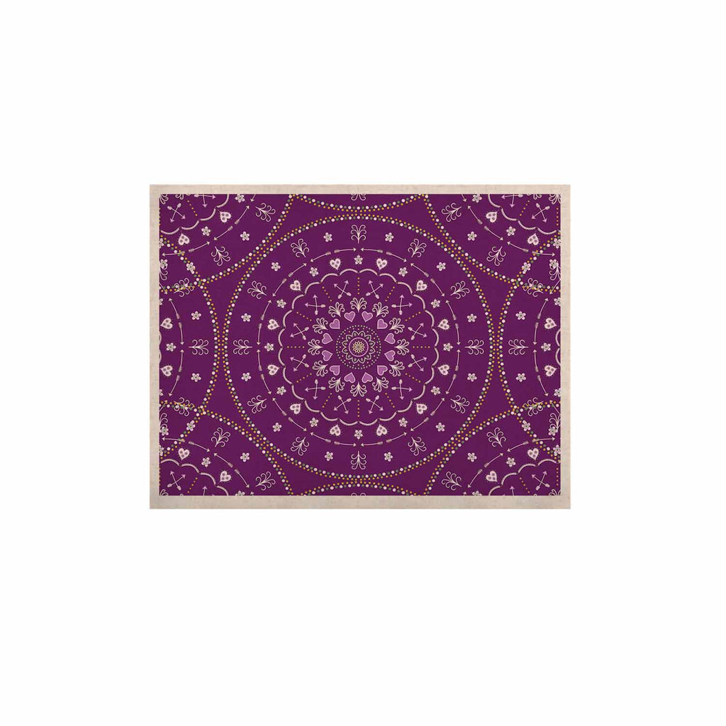 "Cristina bianco Design ""Purple Mandalas"" Purple Geometric KESS Naturals Canvas (Frame not Included) - KESS InHouse  - 1"