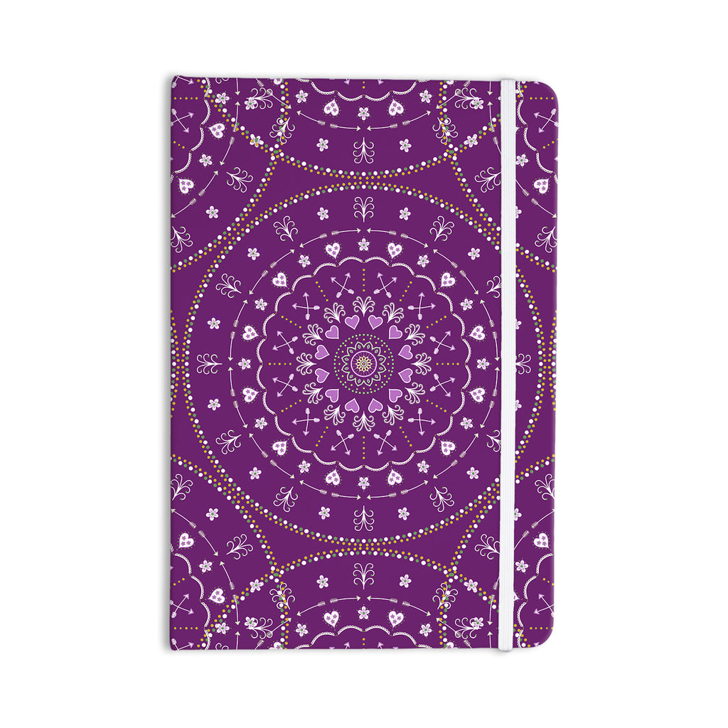 "Cristina bianco Design ""Purple Mandalas"" Purple Geometric Everything Notebook - KESS InHouse  - 1"