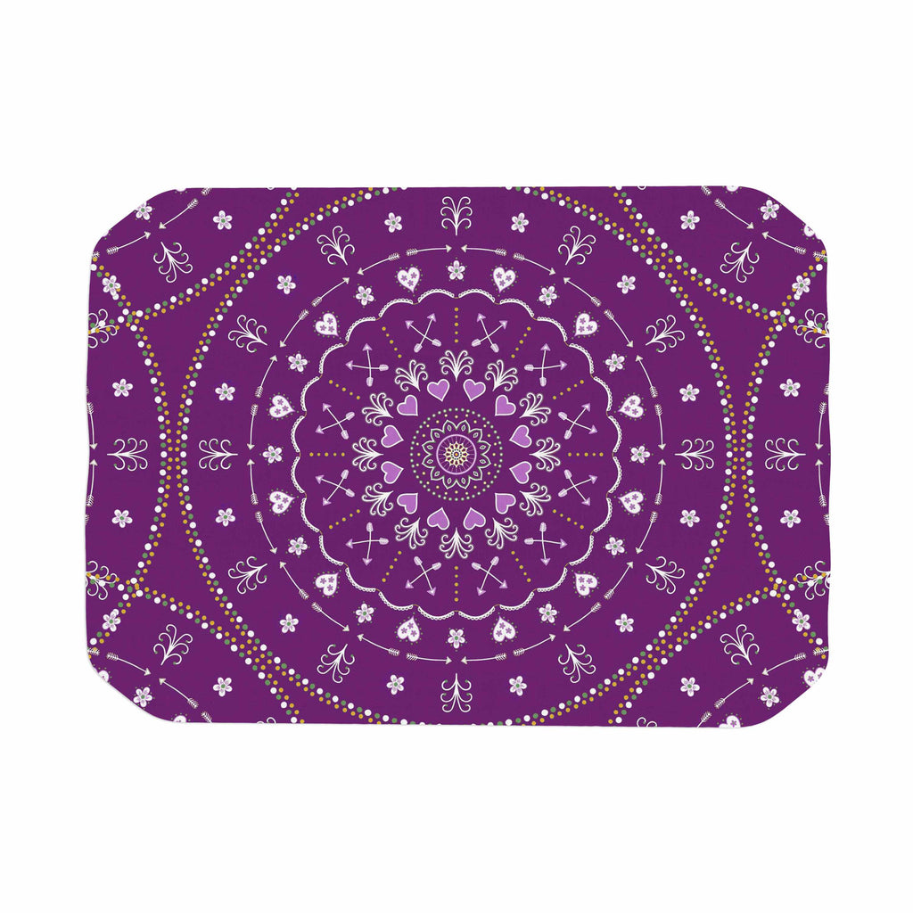 "Cristina bianco Design ""Purple Mandalas"" Purple Geometric Place Mat - KESS InHouse"