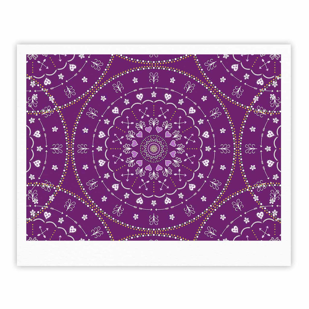"Cristina bianco Design ""Purple Mandalas"" Purple Geometric Fine Art Gallery Print - KESS InHouse"