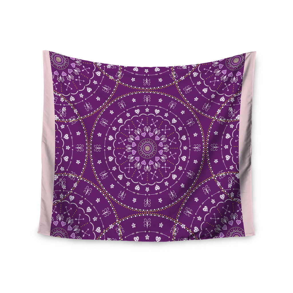 "Cristina bianco Design ""Purple Mandalas"" Purple Geometric Wall Tapestry - KESS InHouse  - 1"