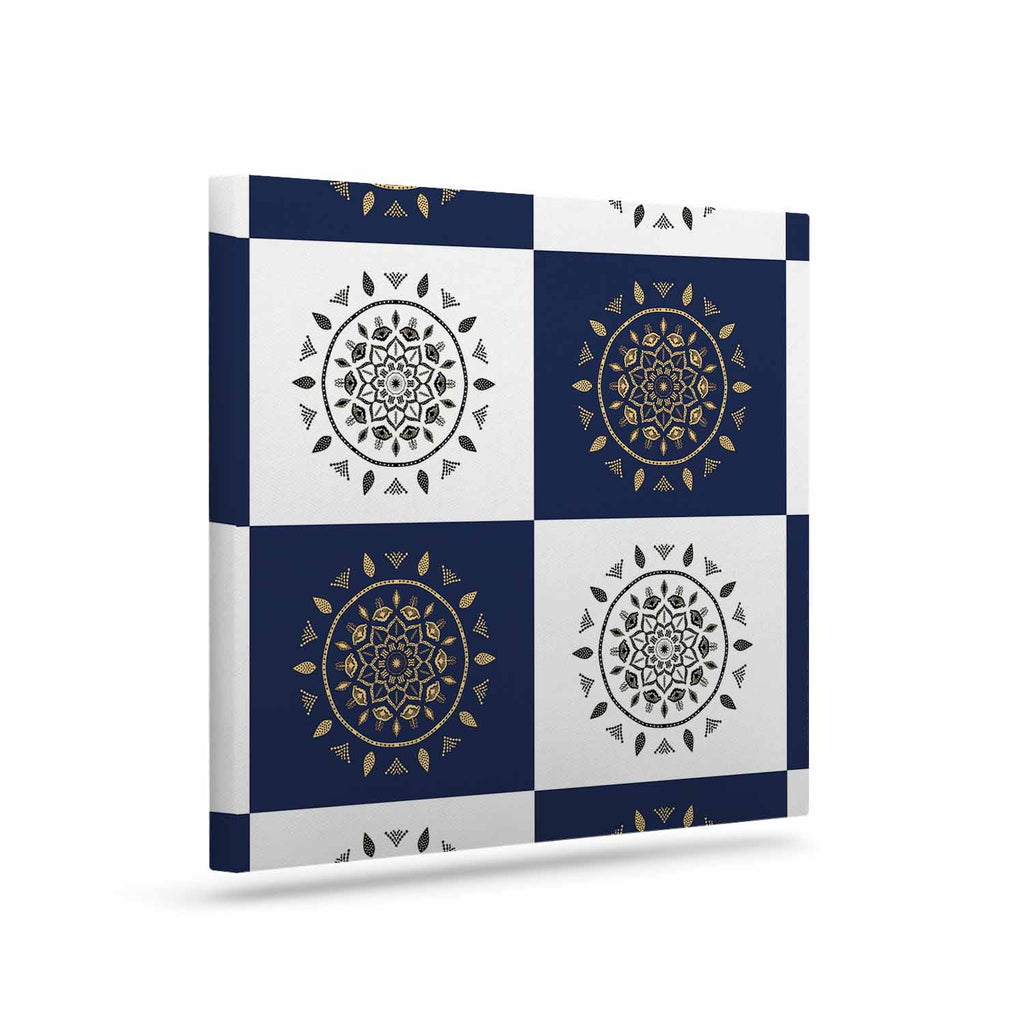 "Cristina bianco Design ""Mandalas * Pattern"" Navy Pattern Canvas Art - KESS InHouse  - 1"