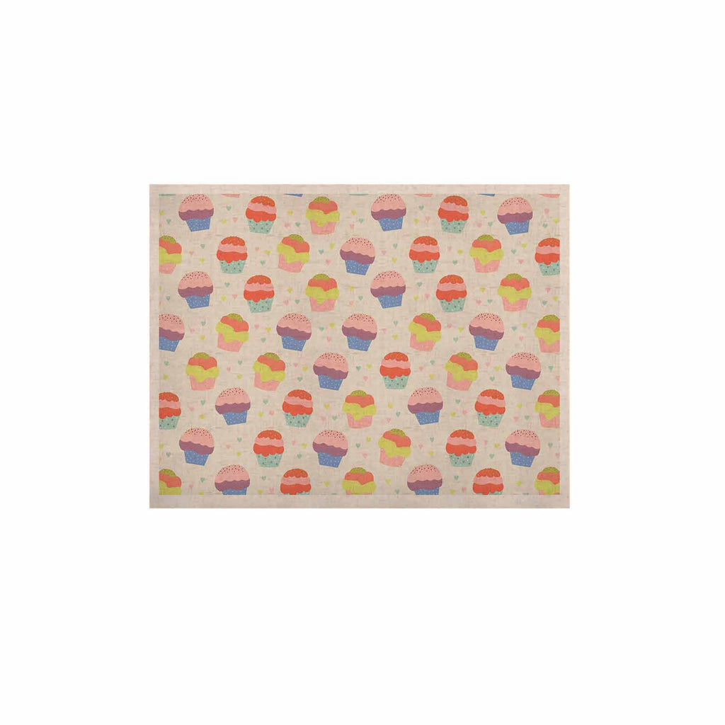"Cristina bianco Design ""Cupcakes"" Yellow Food KESS Naturals Canvas (Frame not Included) - KESS InHouse  - 1"