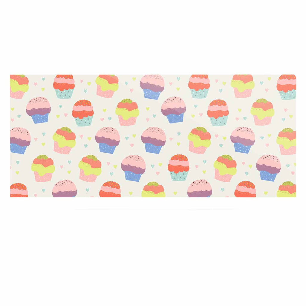 "Cristina bianco Design ""Cupcakes"" Yellow Food Luxe Rectangle Panel - KESS InHouse  - 1"