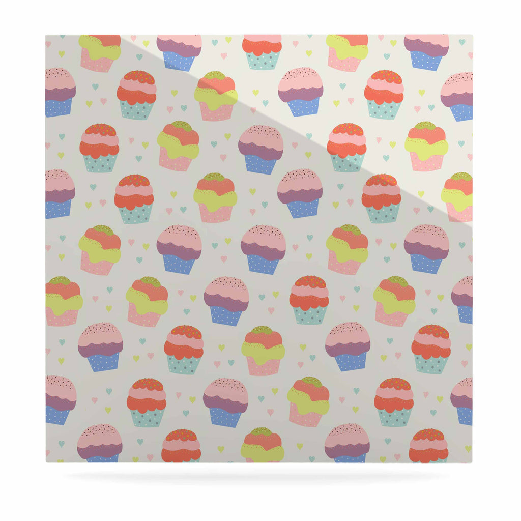 "Cristina bianco Design ""Cupcakes"" Yellow Food Luxe Square Panel - KESS InHouse  - 1"